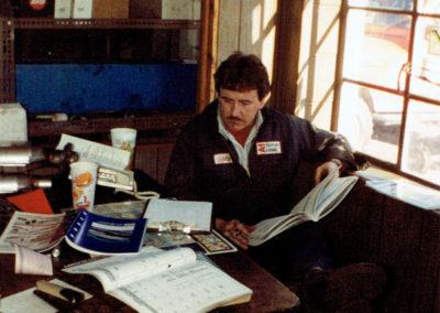 Scott Huckabee in the A-1 office