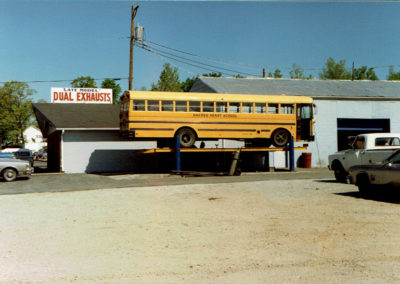 School Bus in for service at A-1